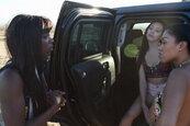 Anna Foxxx, Jenna Sativa, and Yasmine de Leon - Roadside Threesome