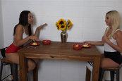 Xandra Sixx and Adrian Maya - Vibrator as Kitchen Tool