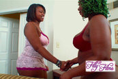Chubby Ebony Lesbians Living their Strap On Fantasies