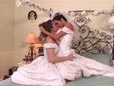 Dani Daniels and Veronica Avluv's Lesbian Wedding Night