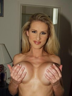 Beautiful Blonde Temptress Ryan Conner Poses Indoors Showing Off Her Perky Breasts!