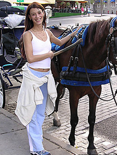Me again in the old port. Taking a ride with a nice stallion. :)