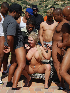 Andi Anderson Gets Served Up A Dish Full Of Creamy Delight In This Gang Bang Photo Set!