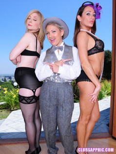 Aubrey Adams Tries To Come Between Nina Hartley And Michelle Lay In This Photo Set...And Fails!