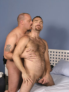 Two hot hairy dudes fuck eachother's asses!
