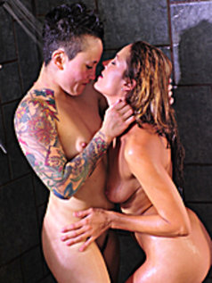 Outdoors, Shower, and Off to Bed with Brunettes Elexis Monroe and Syd Blakovich