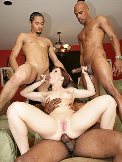 Katja Kassin Kicks Off a 5-Man Gang Bang