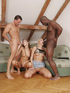 Silvie Deluxe and Mia Having Group Sex