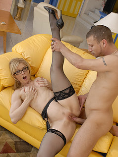 Nina Hartley Rides a Young Stud
