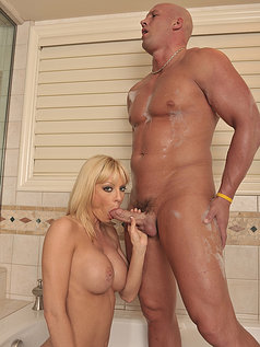 Holly Sampson Gets to Taste Cum