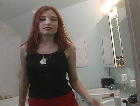 T.J. Cummings Plasters Redhead Russian Katerina's Face In Protein Goo!