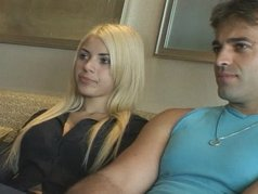Blonde Latina Priscila Gets Her Face Covered With Hot Ball Sauce After Anal Fucking!