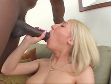 Blond on a big black cock