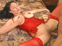 An asian milf with big tits...