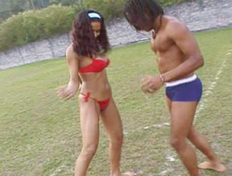Tight Latin Slut Carolina Gets Her Pussy Pumped By Kid Jamaica!