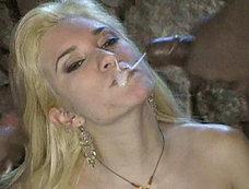 Horny blonde