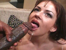 Kate More Gets Her Face Sauced By Lex Steele's Thick Load Of Jizz!