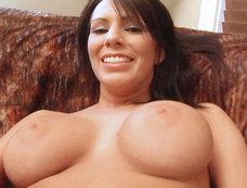 Kream masturbates and squirts with a big dildo