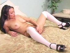 Mya Luanna goes solo for this bedroom scene