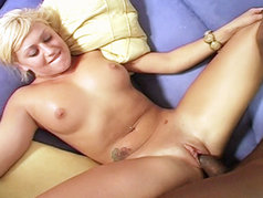 One blond interracial whore