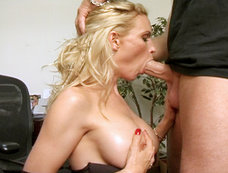 Brian Surewood Fucks Busty Blonde Diamond Foxxx Right Up The Ass Before Delivering Gooey Facial!