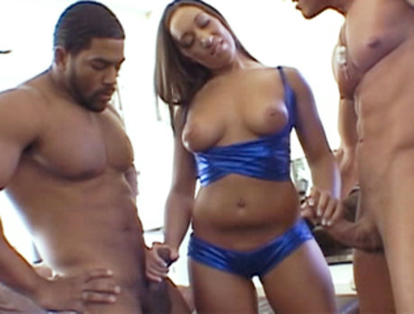 Leona Dulce Gets Pounded By Two Massive Black Cocks