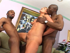Nasty Slut Flower Tucci Goes Crazy For The Black Dick In This Hardcore 2-On-1 Scene!