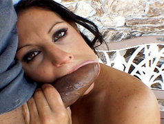 Ariana Jollee Deep Throats And Swallows A Big Load Of Nut Butter Courtesy Of Juan Cuba