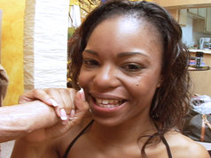 Beautiful Ebony Teen Marie Luv Gets A Lesson!