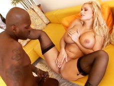 Busty Blonde Shyla Stylez Gets Nailed In The Ass By Lex Steeles Big Black Cock
