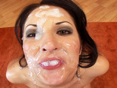 Dark And Perky Young Chelsie Rae Gets Her Face Covered In Ball Snot!