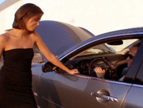 Arnold Shwartzenpecker Picks Up The Lovely Mia Lina By Pretending To Have Car Trouble...