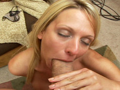 Busty Blonde MILF Brianna Beach Tugs A Load In To Her Mouth And Down Her Throat!