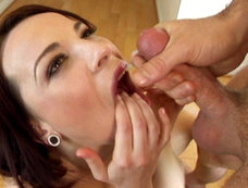 Dana Dearmond Gets Her Mouth Loaded Up With Some Of The Sweet Stuff!