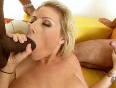 Velicity Von Starts Off Slow With This 2-on-1 Anal Fucking Scene!