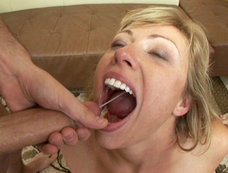 Busty Blonde Adrianna Nicole Wants To Swallow Two Big Loads After Getting Fucked Hard
