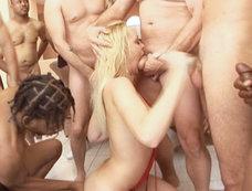Beautiful German Blonde Annette Schwartz Swallows Down Salad Bowl Full Of Gooey Sum After Blow Bang!