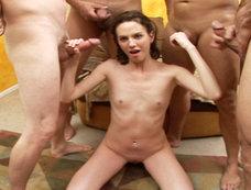 ***** Slut Andrea Anderson Gets Her Face Splashed With Multiple Loads Of Hot Cum!