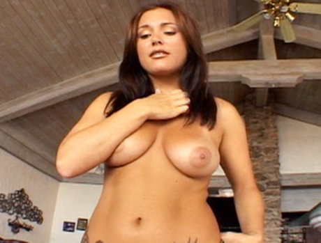 Brunette Slut Katin Swallows A Shitload Of Cum!