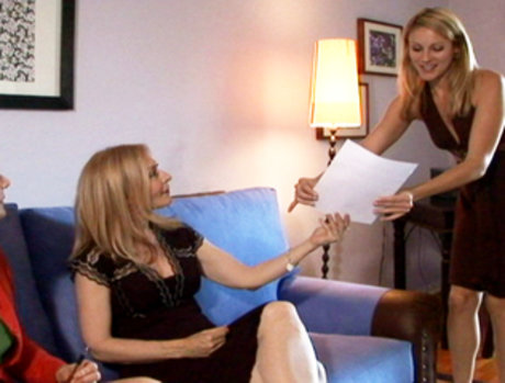 Nina Hartley Catches Samantha Ryan Red Handed And Makes Her Prove Her Skills!