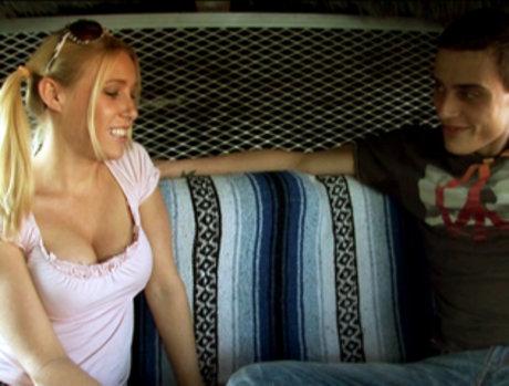 Allison Pierce Sucks A Big Cock In The Back Of A Van!