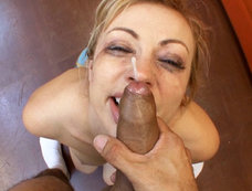 Adrianna Nicole Deep Throats And Gets Her Face Cum Covered!