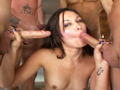 Crissy Moon Swallows Multiple Loads!