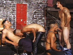 Latin Leather Gang Bang? Yes Please!