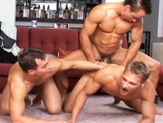 Three Guys From Prague Fuck Each Others Asses!