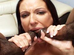 Hailey Young - Cum-Hungry Brunette in a Blowjob Gang Bang