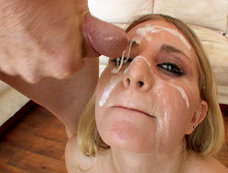 La'rin Lane Gets Her Face Covered In Cum After Hardcore Blow Bang!
