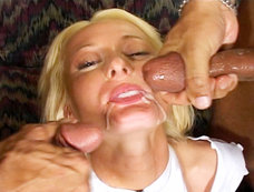 Melissa Lauren - Squirting Blonde in a 2 on 1 with DP