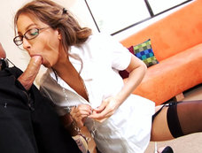 Jenna Haze Takes On Her Co-Workers Big Cock!