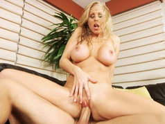 Julia Ann Gets Her Tight Milf Pussy Stretched By A Big Cock.